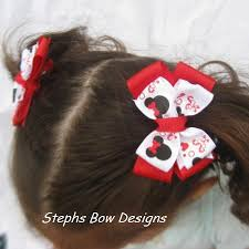 minnie mouse hair bow minnie mouse christmas layered pigtail hair bow