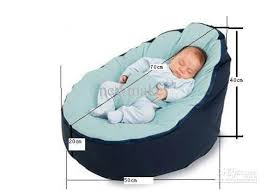 baby pouf bean bag without filling blue color baby bean bag online