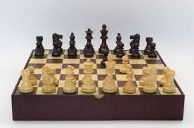 walnut maple chess board chess piece storage drawers