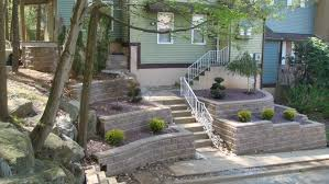 images about retaining wall hillside with walls for yard pictures
