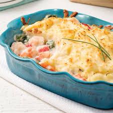 cuisiner crevette gratin de crevettes et goberge soupers de semaine recettes 5