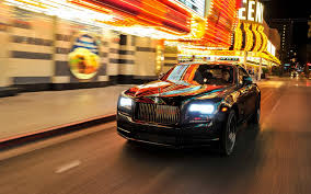 roll royce night rolls royce wraith night motion blur luxury cars black wraith 4k