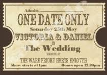 Movie Ticket Wedding Invitations Wedding Ideas Theatre Weddbook