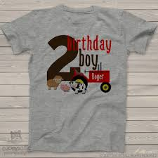 personalized kids shirt farm animals red tractor birthday t shirt