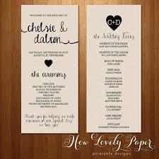 typical wedding program stunning sided wedding invitations iloveprojection