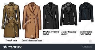 vector illustration womens jackets types set stock vector