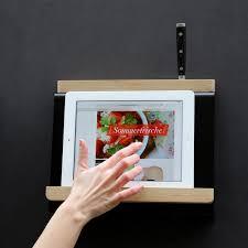 tablette special cuisine support de tablette de cuisine et porte couteaux tablio müller