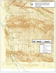 Yakima Washington Map by Usgs Yakimaeast 1936 Plusroutes Jpg