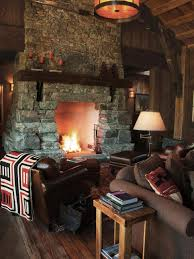 interior ci rustic elegance great room fireplace and chairs