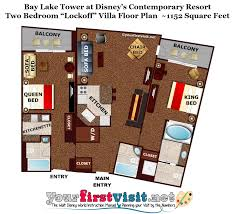 disney bay lake tower floor plan photo tour of the master bedroom and bath space in one and two