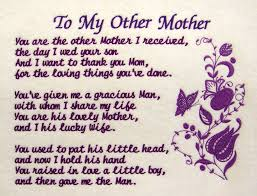 I Love My Son Poems And Quotes by To My Other Mother A Machine Embroidered Poem For My Mother In