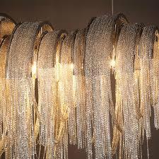 Metal Chain Chandelier Aliexpress Com Buy Hotel Villa Lobby Italy Tassels Non Standard