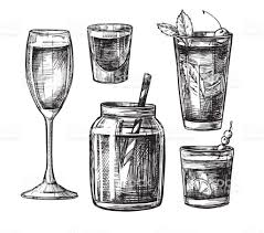 cosmopolitan drink drawing hand drawn vector illustration collection of alcoholic and