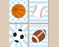 Sports Nursery Wall Decor Sports Nursery Decor Etsy
