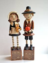 thanksgiving pilgrim decoration folk by indigotwinholiday