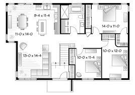 modern floor plan lofty idea 14 mid century ranch home plans modern floor