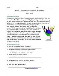reading comprehension worksheets 2nd grade semnext