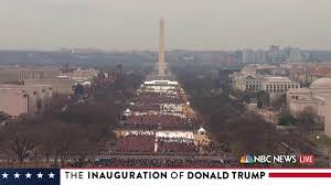 picture of inauguration crowd see it trump draws much much smaller inauguration crowd than