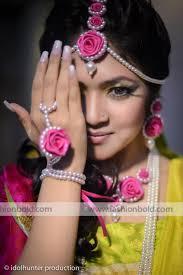 wedding flowers jewellery pearl flower jewellery for a mehendi function wedding