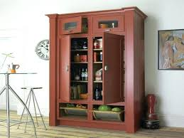Kitchen Pantry Cabinet Plans Free Standalone Pantry Freestanding Pantry With Pullout Drawers Stand