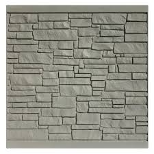 simtek 6 ft h x 6 ft w ecostone gray composite fence panel