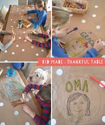 kid made thankful table thanksgiving table thanksgiving and