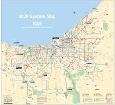 map of cleveland cleveland transport map mapsof