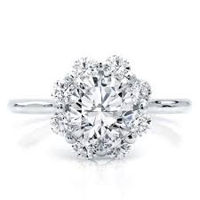 flower engagement rings flower halo engagement ring setting r3062