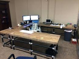 how to build a gaming desk butcher block office desk u shaped butcher block desk learn how to