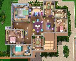 sims 3 house plans mansion blueprints mod the sims retro realty 70s modern family home