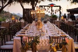 Wedding Reception Table Settings Wedding Reception Table Setting In Gold And Blush Pink At Desert