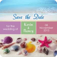 wedding magnets 3x3 custom shells with starfish save the date magnets 20 mil