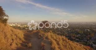 trail hollywood hills scenic aerial view of los angeles cityscape