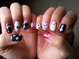 lookitsmay halloween goth scary gel nail art
