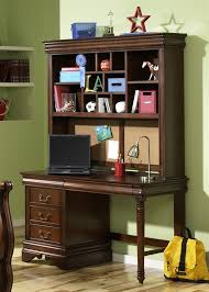 louis philippe student desk and hutch in brown cherry finish by