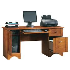 Sauder Computer Desk Cinnamon Cherry by Sauder Bradford Brushed Maple Computer Desk At Menards