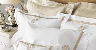 Monogrammed Coverlet The Pink Giraffe Monogrammed Bed Linens By Matouk