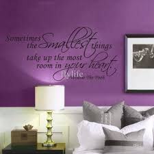 sometimes the smallest things take up the most room in your heart sometimes the smallest things take up the most room in your heart room decor wall lettering stickers quotes sayings vinyl art home decals reusable wall