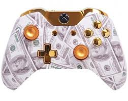xbox one design gold money xbox one custom un modded controller exclusive design