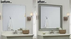diy bathroom mirror frame ideas unique bathroom mirror frames 2 easy to install sources a diy frame
