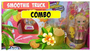 glitter truck shopkins smoothie truck combo with exclusive pineapple lily