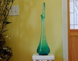 Antique Hand Blown Glass Vases Aqua Blue Vase Etsy