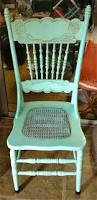 Antique Pressed Back Rocking Chair This Is One Of The Antique Press Back Chairs I Painted To Use In