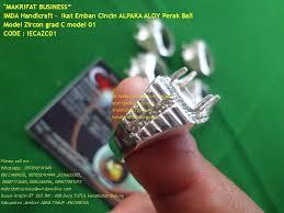 ring cincin alpaka ikat emban cincin alpaka aloy perak bali model zircon grad c model