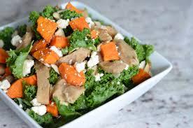tasty thanksgiving vegan side dish kale sweet potato salad