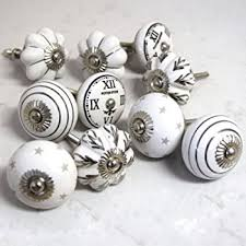 Porcelain Knobs For Kitchen Cabinets 14 Black And White Ceramic Knobs Handpainted Ceramic Door Knobs