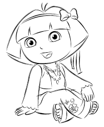 printable coloring pages dora friends coloring