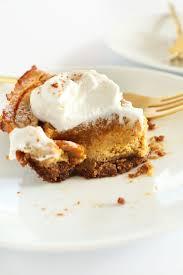 Gingersnap Pumpkin Cheesecake by Vegan Pumpkin Cheesecake Minimalist Baker Recipes