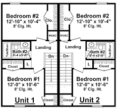 duplex floor plans for narrow lots half duplex house plans homes zone