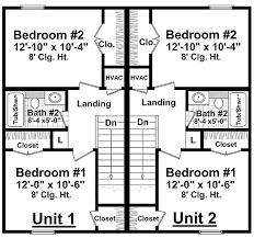 duplex floor plans for narrow lots half duplex house plans homes zone